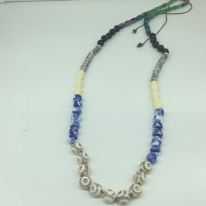 Multicolor bead necklace by Anthropologie